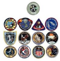 NASA Apollo Program Embroidered Mission Patch Set